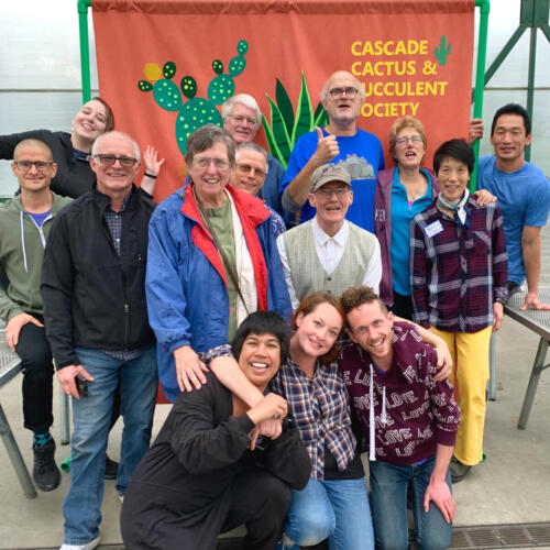 CCSS Members at the Odd Plant Sale & Show.  Sept. 2019