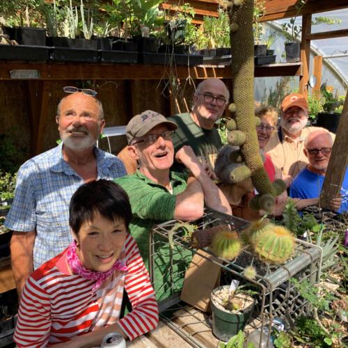 Members visit Peter Liekkio's greenhouses.  Aug 2019