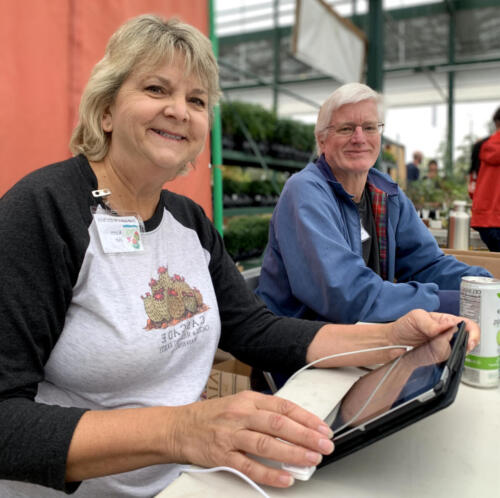 Members Karen & Tim.The Odd Plant Show & Sale.  Sept 2019