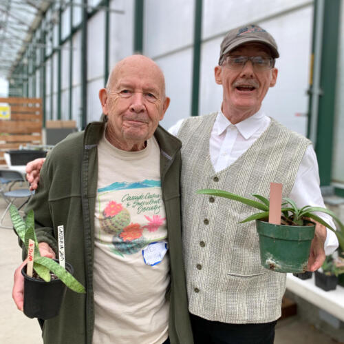 Members Ted & Tim selling at the Odd Plant Sale & Show